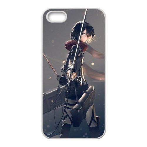 Attack On Titan coque iPhone 4 4S Housse Blanc téléphone portable couverture de cas coque EBDOBCKCO14088