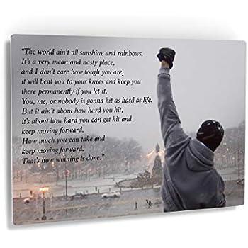 Amazon Com Rocky Balboa Framed Wall Art Rocky Balboa
