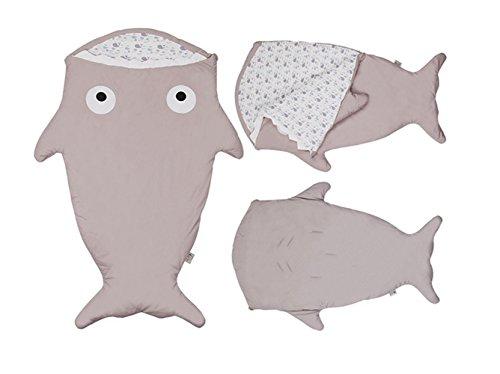 Babies Thick Shark Sleep Bag (Gray) - 7