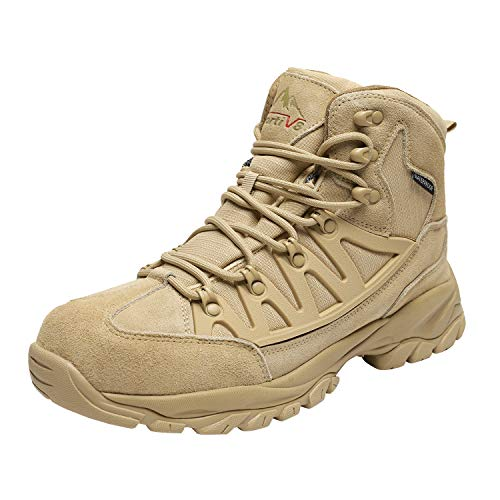 NORTIV 8 Men's Waterproof Hiking Boots Lightweight Mid Ankle Trekking Outdoor Tactical Combat Boots