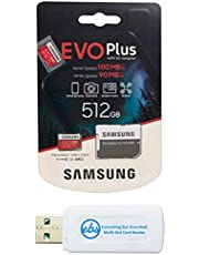 Samsung EVO+ Plus 512GB MicroSD Card Works with Samsung Galaxy Note 20 Ultra Phone, Note 10 Lite (MB-MC512HA) Bundle with (1) Everything But Stromboli SD & MicroSDXC Memory Card Reader