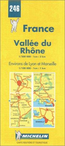 Michelin Vallee du Rhone (Rhone Valley), France Map No. 246