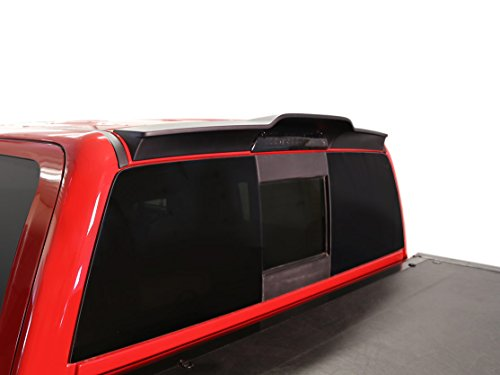 Cab Spoiler - BIZON Truck Spoiler (fits) 2014-2018 Chevy Silverado GMC Sierra 1500 and 2015-2018 HD Double and Crew Cabs Only Truck Cab Wing Spoiler Matte Black or Ready to Paint (981579BZ)