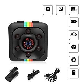 Mini Spy Camera - HD 1080P Portable Camera,Hidden Tiny Micro Security Camera,with Night Vision Motion Detection for Home,Car,Office Indoor Support to 8-32 GB SD Card