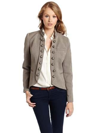 Kensie women's Faded Tweed Jacket, String Mix, Large
