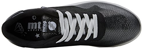 MTNG Women's Hulk Fitness Shoes, Silver Black (Lureti Negro / Brillo Negro / Mirror Black C39119)