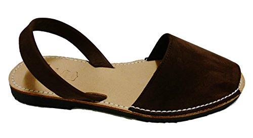 nobuck oscuro menorquínas Sandales minorquines Avarcas marrón authentiques color f7nnqPaX