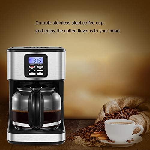 Y&J Cafetera Programable Filtro Máquina De Café Reloj/Temporizador Percolador De Café Filtro Reutilizable Permanente Acero Cepillado Antigoteo: Amazon.es: Hogar