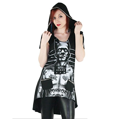 Too Fast Hooded Sarina - Tattooed Monster Damen Longtop mit Kapuze