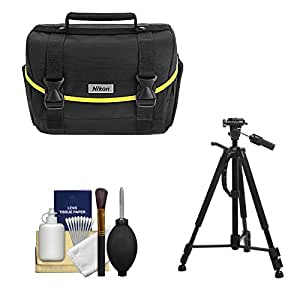 Nikon Starter Digital SLR Camera Case - Gadget Bag with Tripod + Cleaning Kit for D3200, D3300, D5300, D5500, D7100, D7200
