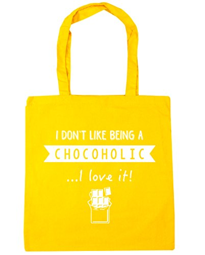 Shopping I Beach x38cm Like Don't Yellow Being HippoWarehouse Chocoholic A litres Love 42cm It I Bag Tote Gym 10 vgdcR7