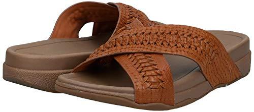 FitFlop-Men-039-s-Surfer-Slide-Woven-Leather-Croc-Embo-Choose-SZ-color thumbnail 7