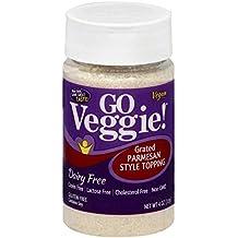 Go Veggie Grated Soy Topping - Vegan - Parmesan Flavor - 4 oz, Pack of 3