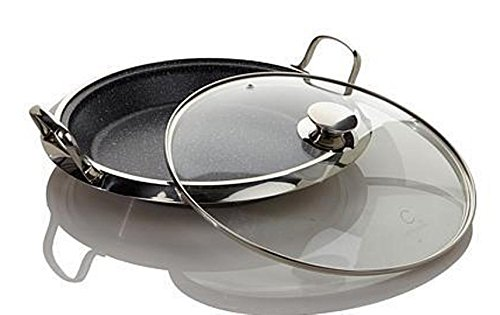 "Curtis Stone DuraPan Nonstick 12"" Multipurpose Deep Pan with Lid + 9 Recipe"
