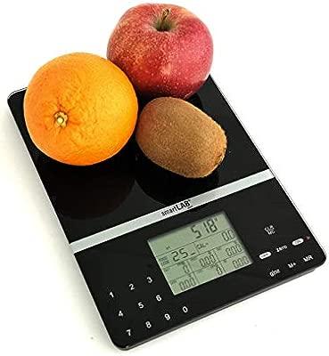 SmartLab Diet Báscula de Cocina Digital | Báscula Nutricional para el Análisis Nutricional Alimentos | hasta 1000 Alimentos Diferentes | Ideal para ...