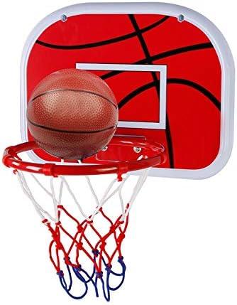バスケットボールゴール 38センチメートル子供の屋内バスケットボールボックス子供のおもちゃ誕生日プレゼントを撮影ラックウォールマウント 高さ調節可能 家庭用 こども用 (色 : Black, Size : One size)