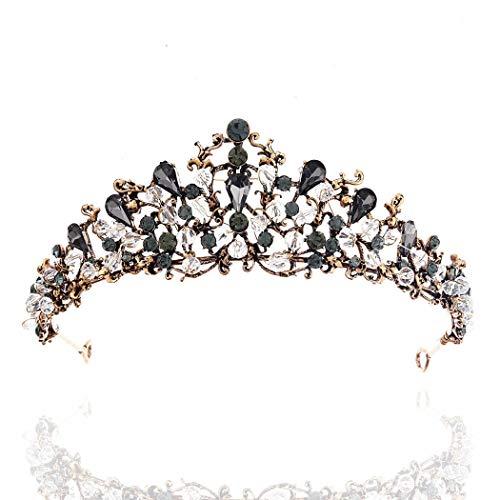 Barode Black Baroque Bride Wedding Crowns and Tiaras