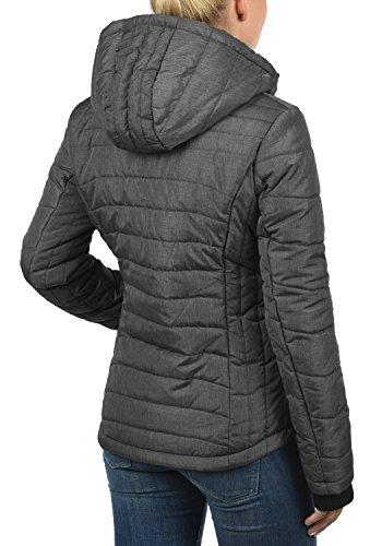 veste saison Veste matelassée capuche mélange avec 20044 gris femme foncé Nyla Blendshe pour mi 6ZgqwXX
