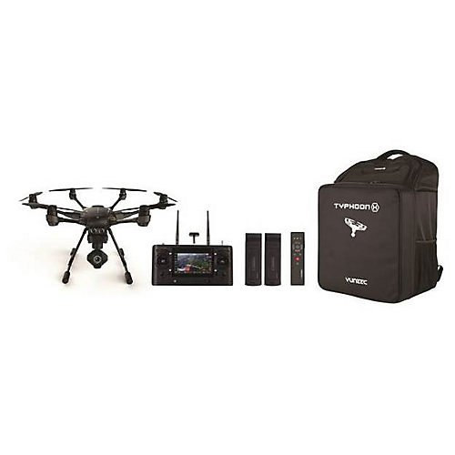 Yuneec Typhoon H Pro Bundle - Ultra High Definition 4K Collision Avoidance Hexacopter Drone with 2 Batteries, ST16 Controller, Wizard and a Backpack