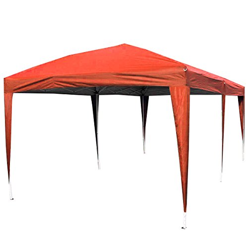 Giantex 10'x20' Ez POP up Wedding Party Tent Folding Gazebo Beach Canopy W/carry Bag (Red)