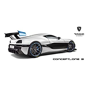 Rimac Concept One S Printed Car Poster 58x24 Large Electric Supercar Art