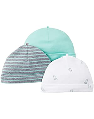 Carter's Baby Girls' 3 Pack Caps (Baby) - Assorted