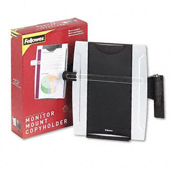 Fellowes® Office SuitesTM Monitor Mount Copyholder COPYHOLDER,MNTR,MT,BKSR 53100 (Pack - Mount Monitor Copyholder Fellowes