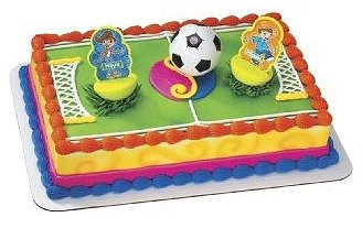 Maya and Miguel Soccer Ball Cake Topper Set (3pc)