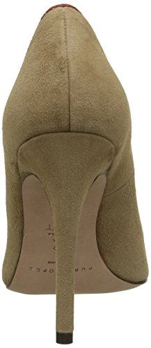 Pura Lopez Damen Pompt Braun - Marron (camel / Cotto)