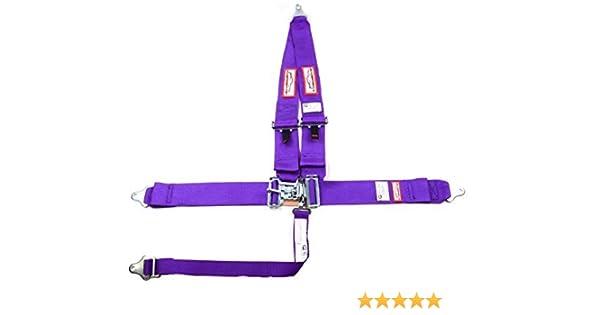 Racerdirect Racing Harness SEAT Belt 5 Point SFI 16.1 Latch /& Link Purple