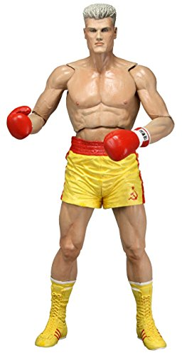 "NECA Rocky 40Th Anniversary Series 2 Drago Scale Action Figure(Yellow Trunks Version), 7"", Yellow"