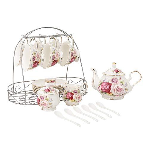 Fine Bone China Tea Set - 7
