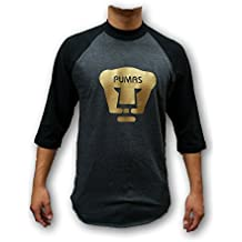 Pumas UNAM Men's Gold Logo 3/4 Sleeve Shirt