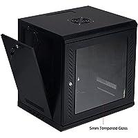 Docooler® 9U IT Wallmount Network Cabinet Server Data Box Enclosure Rack With Locking Glass Door