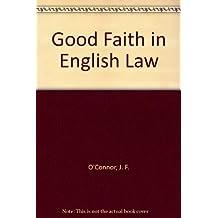 Good Faith in English Law