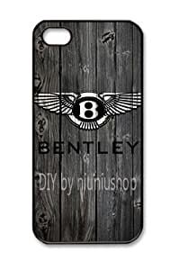 iphone 5 case Bentley Car Logo with Wood background printing Design iphone 5 cases(pc material)