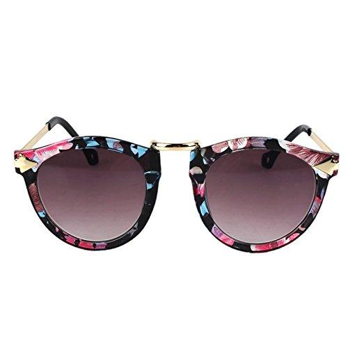 Ikevan 2017 Newest Fashion Sunglasses Arrow Style Eyewear Round Sunglasses Metal Frame - Arrow Eyewear