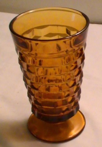 Amber Indiana Glass (Vintage Indiana Whitehall Amber Glasses - Set of 2)