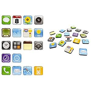 CoverON® Home Kitchen Decor 3-D Apps Icon Magnets Refrigerator 18 Pcs Set