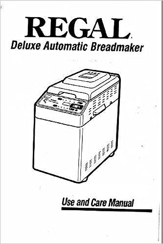 regal automatic breadmaker manual