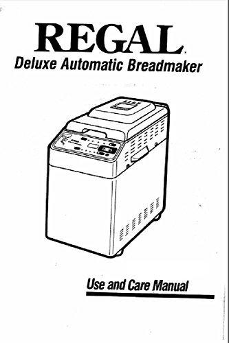 Regal Pan máquina eléctrica manual de instrucciones y recetas ...