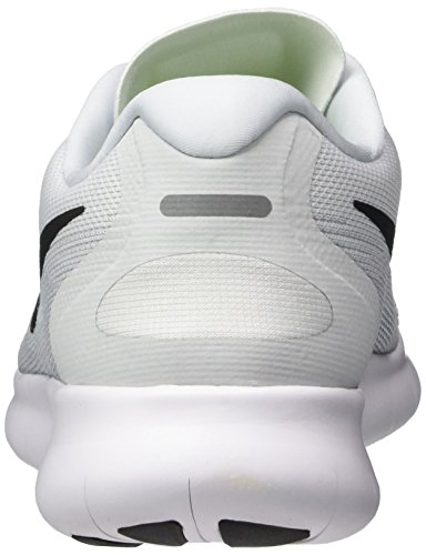 NIKE Men's Free RN 2017 Running Shoe White/Black/Pure Platinum Size 13 M US looking for cheap online uJhh66o