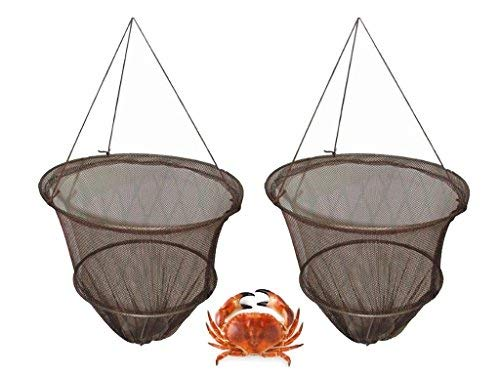 FiNeWaY Crab Fish Crayfish Lobster Drop Net With Bait Clip & Rope - Safe Crabbing ()