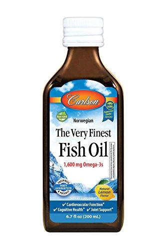 Carlson The Very Finest Fish Oil, Lemon, Norwegian, 1,600 mg Omega-3s, 200 mL
