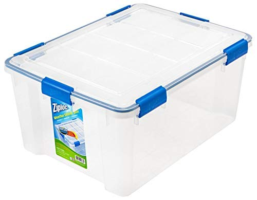 Ziploc Weathertight Storage Box, 60-Quart, 11 1/5
