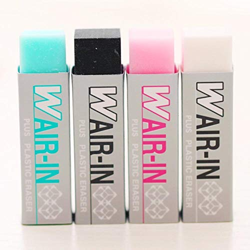 24 pcs/Lot Wair in plastic erasers Plus magic eraser for pencil Stationery Office supplies gomas de borrar by PomPomHome (Image #2)