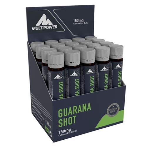 Multipower Guarana Ampullen im 20er Pack (20 Fläschchen / insg. 500 g) – Energy Gel liefert Energie zu Trainingbeginn – leckerer Energy Shot mit natürlicher Koffeinquelle – Orangengeschmack