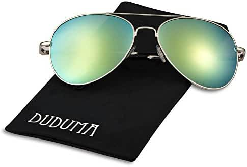 Duduma Fashion Aviator Sunglasses with Full Metal Crossbar Frame for Women and Men 8027
