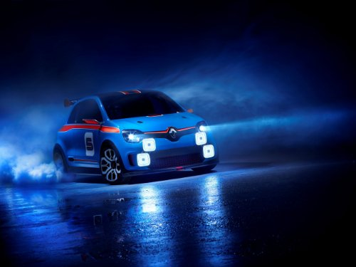 Renault Twin'Run  Concept Car Art Poster Print on 10 mil Arc