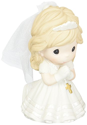 Precious Moments Guest Book - Precious Moments,  Remembrance Of My First Holy Communion, Bisque Porcelain Figurine, Girl, 133024
